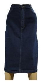 5fd5eb22d Pollera Jeans Elastizada Talle 44 Al 60 Bolsillos