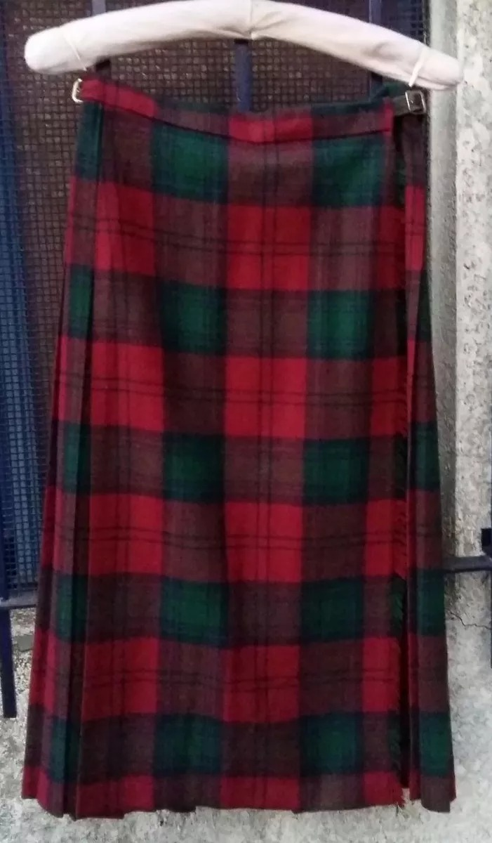 Pollera Kilt Vintag Tartan Lana Talle 14 Colors Clan Lindsay ...