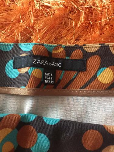 pollera marca zara divina en colores de marrón nueva