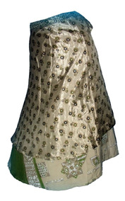 ead8d6192 Pollera Mil Formas Doble Falda Seda Reversible Hindu