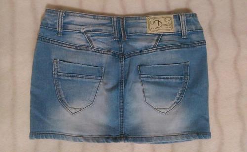 pollera mini de jean - talle 28