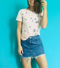 202a8c6f0 Pollera Mini De Jeans Para Mujer Azul Lovetokio Indumentaria