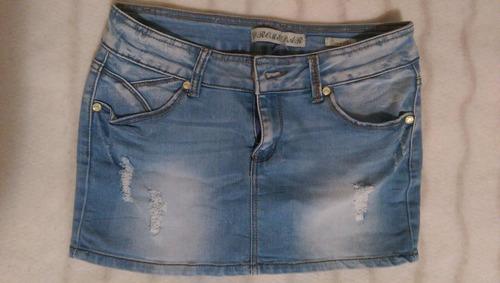 pollera mini jean de mujer - talle 28