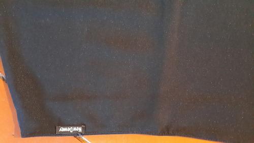 pollera mini negra chispitas .t m.medidas.san isidro