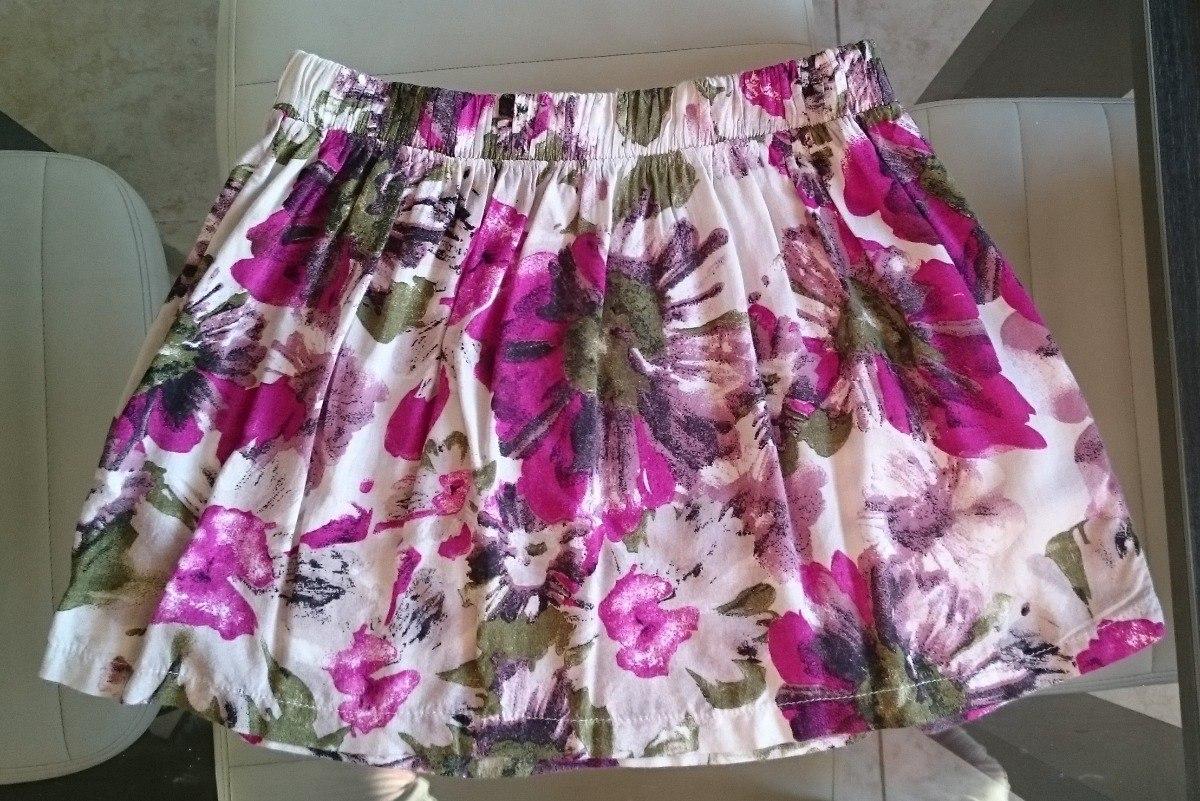 27ed870c5 Pollera Minifalda Algodón Floreada Para Verano Talle S - $ 150,00