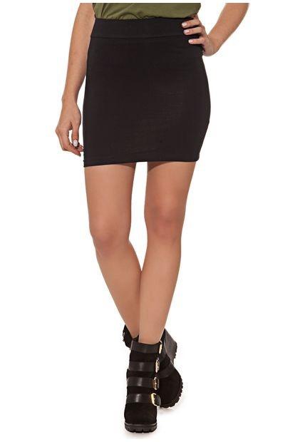 Pollera Minifalda Negra Tubo Forever 21 Noche Algodon Alto -   350 ... 55de125790da