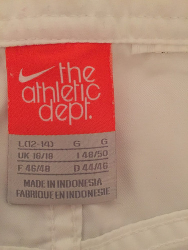 pollera mujer deportiva marca nike color blanca talle l