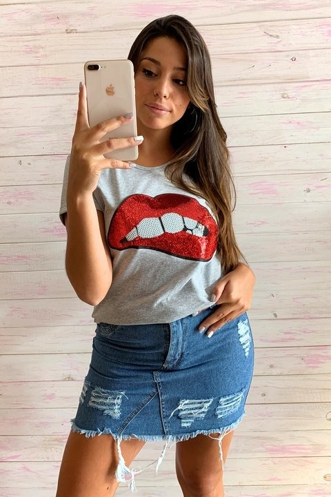 455f8bb2c Pollera Mujer Jeans Roturas Rigida Celeste Verano 2019