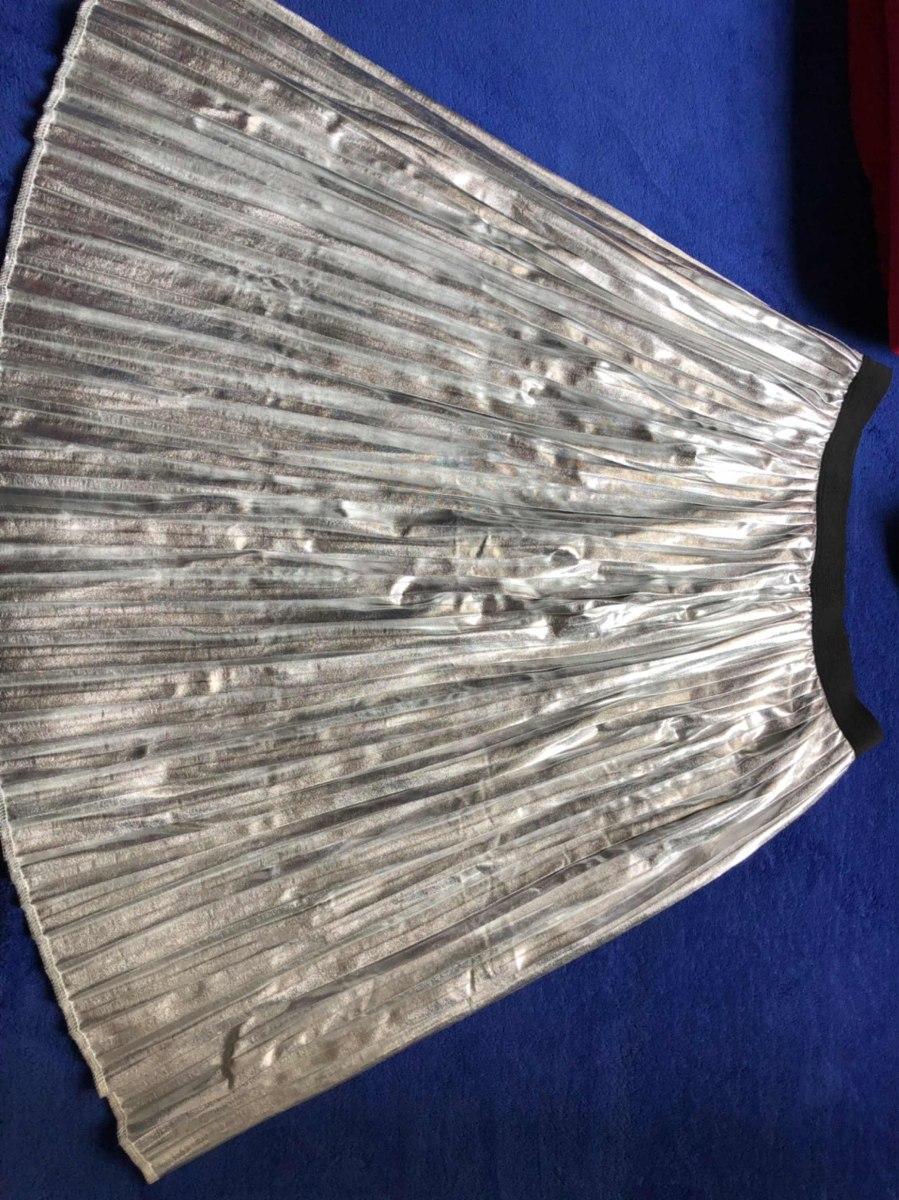 pollera plateada falabella. Cargando zoom. 32e43a92ad48