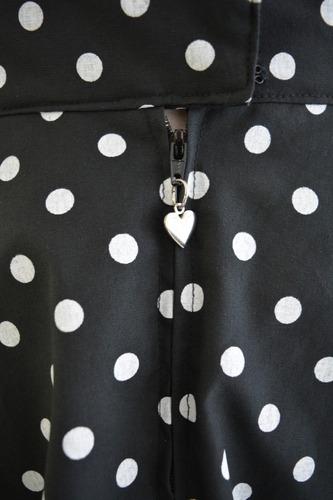 pollera plato lunares retro vintage pin up negra diseño