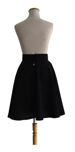 pollera plato  pin up retro vintage negra diseño