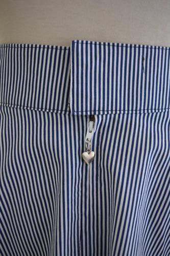 pollera plato retro vintage  pin up rayada marinera