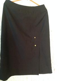 50d741fc89 Pollera Recta Negra Con Tajo - Polleras Cortas de Mujer en Mercado ...