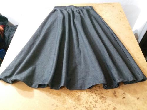 pollera super evase tela jean elastizada talles s a 4xl