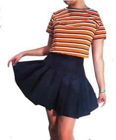 654580317 Pollera Tennis Skirt Lisas Gabardina Tableada Xs A L Kawaii