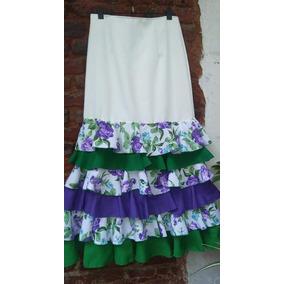 bea224431 La Tia Castora Faldas De Flamenco - Ropa y Accesorios Blanco en ...