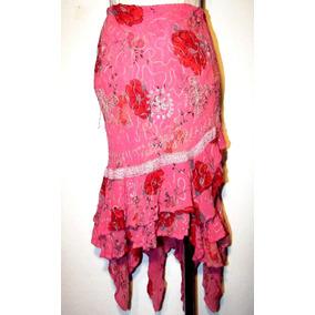 d7a77216c Pollera Tejida Crochet - Polleras de Mujer Rosa chicle en Mercado ...