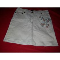 Hermosa Pollera Mini En Jean Elastizado Color Crudo Talle 38