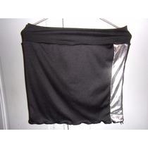 Pollera Minifalda Negra,elastizada, Talle S