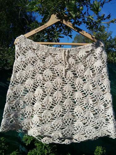 polleras en hilo, artesanales,en crochet primavera /verano.