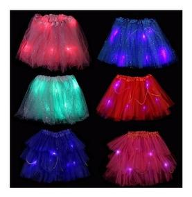 8c11537ee Pollerita Tutu Princesa Led X10 Un- Colores Cotillon Disfraz