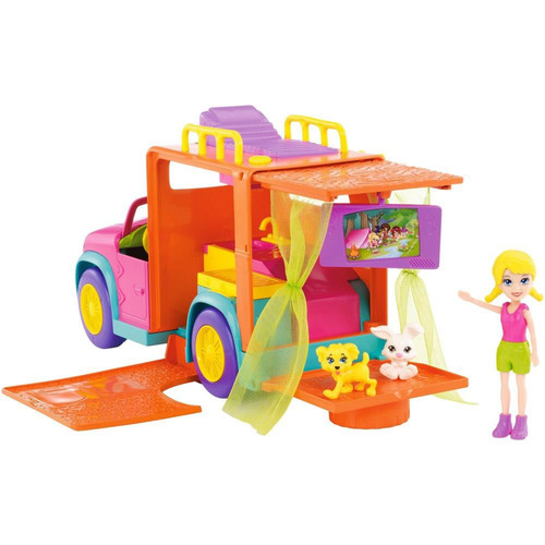 polly pocket carro de acampar mattel