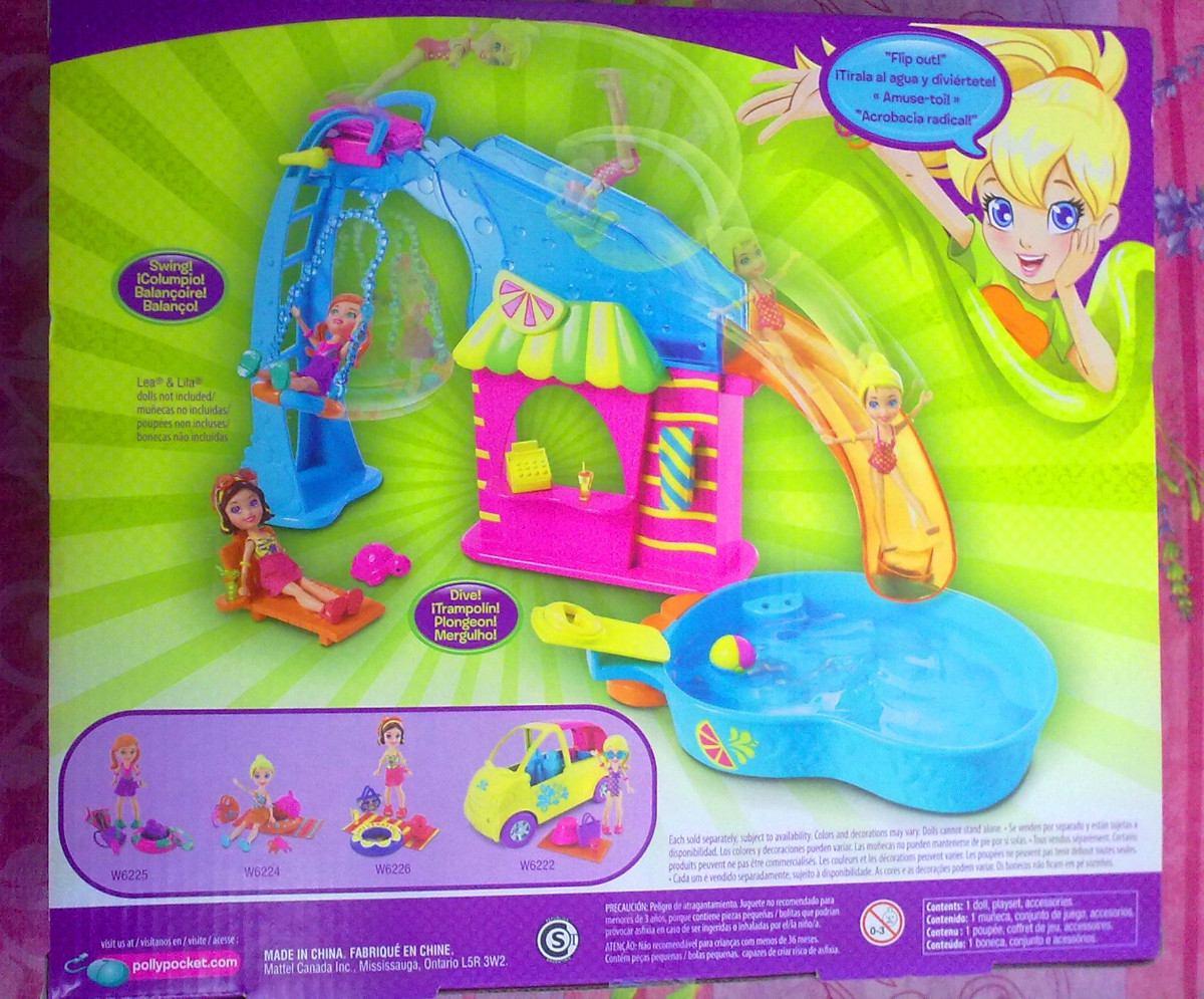 Polly pocket gran set de fiesta en piscina en for Polly pocket piscine