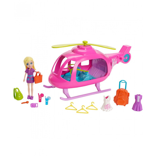 polly pocket helicóptero de conciertos - envío gratis