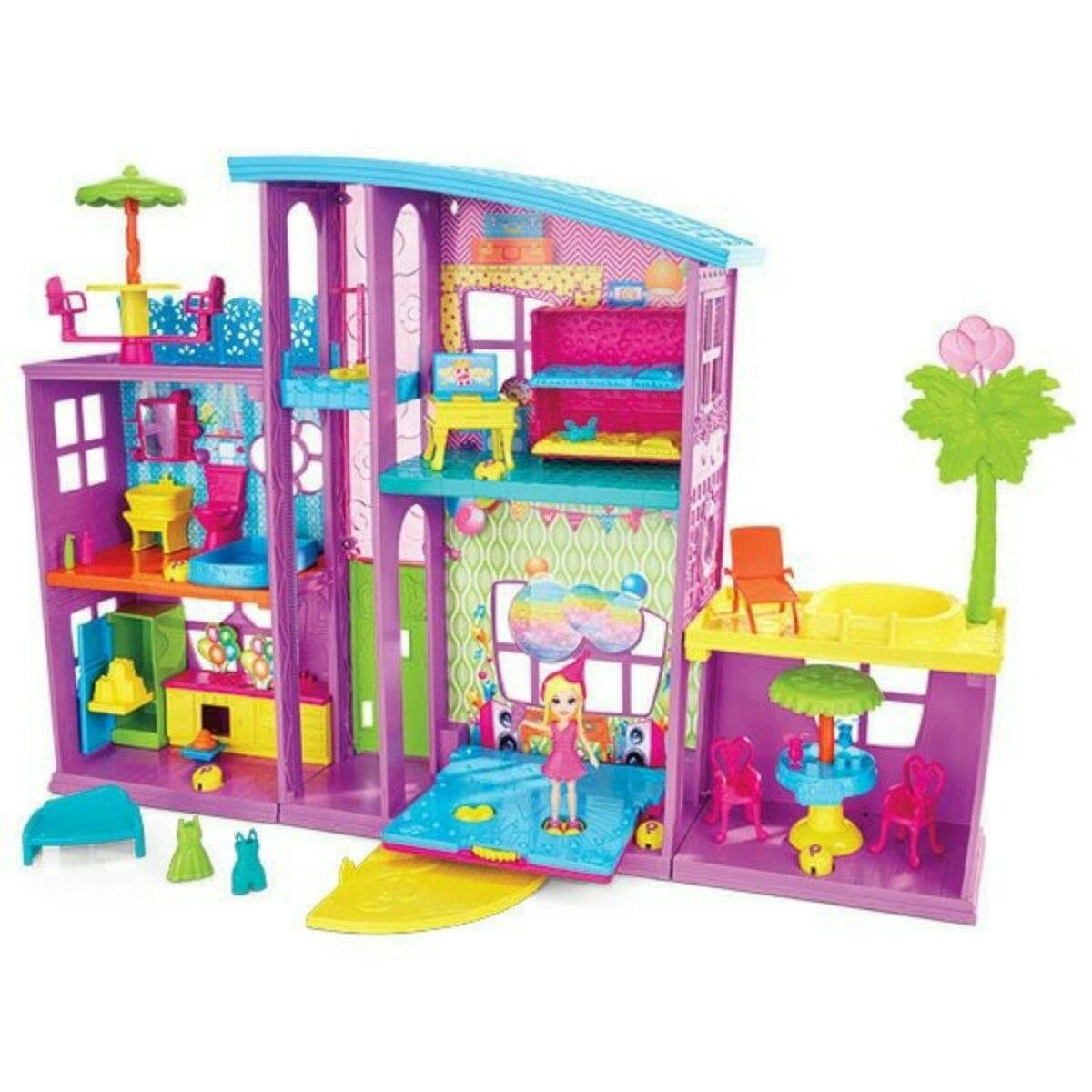 Polly pocket mega casa de sorpresas mattel env o for Polly pocket piscine