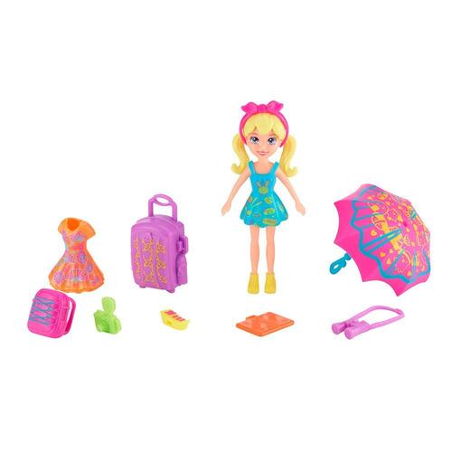 polly pocket viaje a japon muñeca + accesorios mattel