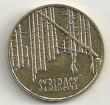 polônia - 2 zlote - 2008 - exilados na sibéria - y#638