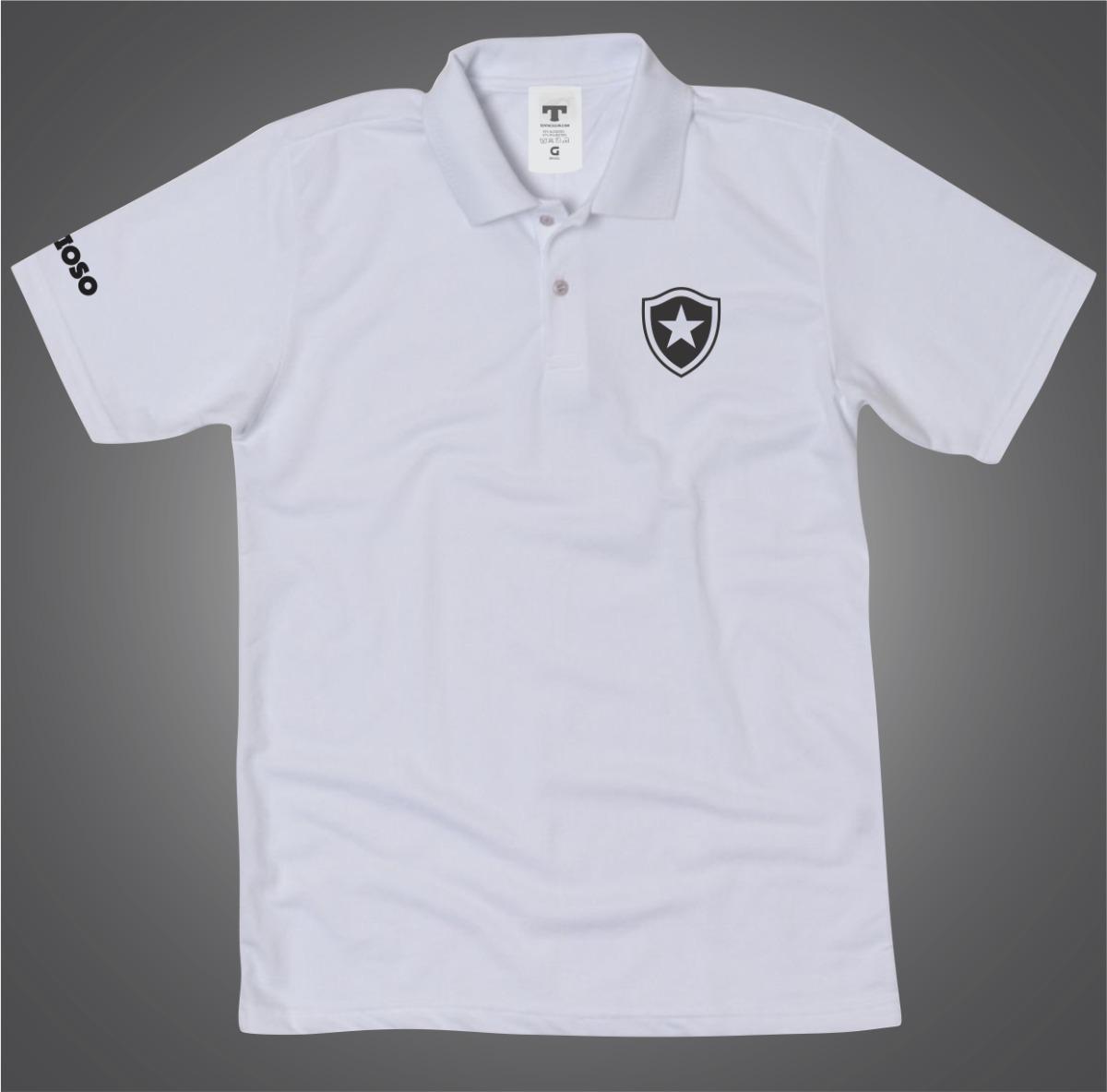 da8a05ab9ec71 ... camisa botafogo polo branca torcedor. Carregando zoom.