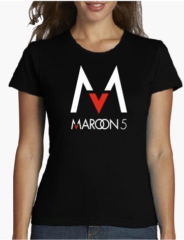 polo dama  maroon 5  estampados personalizado