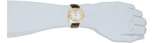 polo de ee.uu. assn. reloj de pulsera de cocodrilo marrón cl
