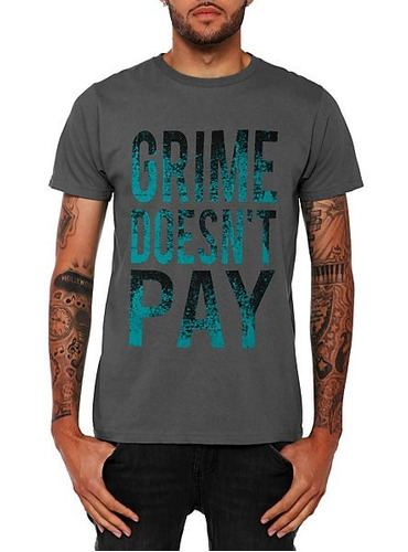polo estampado grime doesnt pay (hipster, rock) remate