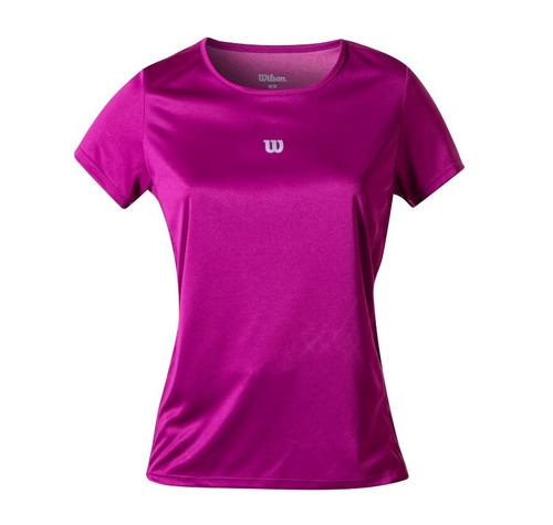 polo femenino wilson - camiseta core ss w fucsia - tenis