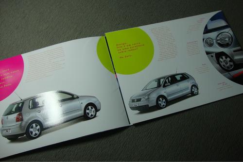 polo  folder lançamento original vw