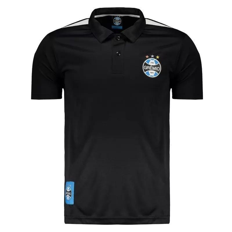 Polo Grêmio Preta Oficial Licenciada - R  34 52edda3131171