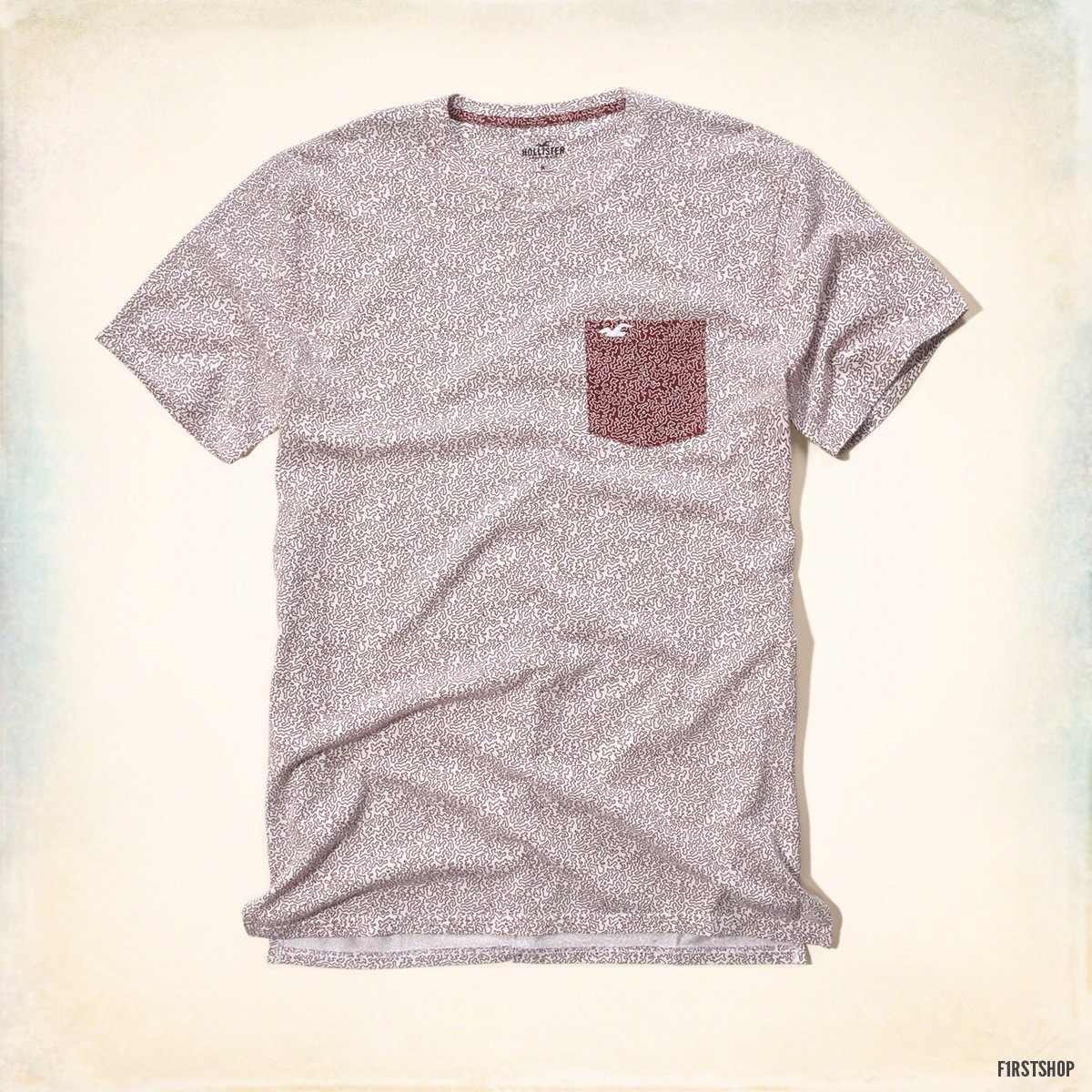 polo hollister camiseta con bolsillo estampado talla m. Cargando zoom. 41e146df53d35