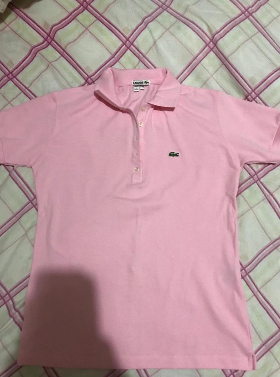 6aa5229f42ed3 Polo Lacoste Feminina Original Tamanho G No Brail - R  100,00 em ...