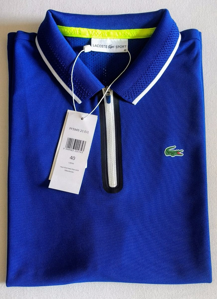 74b08b939fe8b Polo Lacoste Feminina Sport Tennis Em Piqué Fino Ultra-dry - R  200 ...
