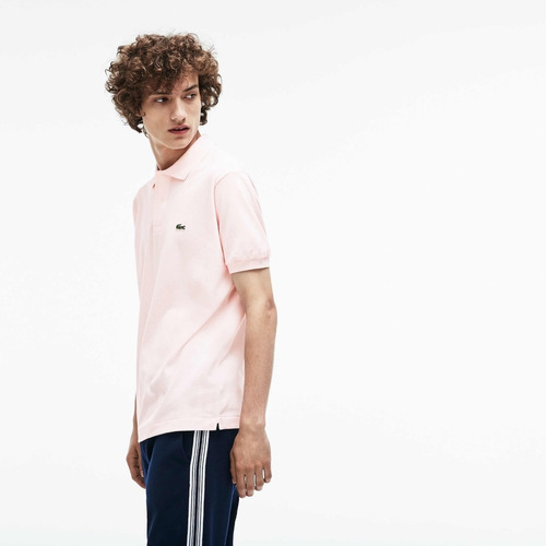 polo lacoste l1212 classic fit color flamingo
