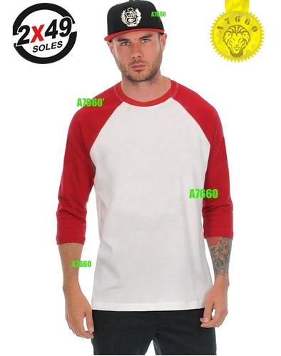 polo manga 3/4 raglan nuevo t-shirt ranglan baseball skate