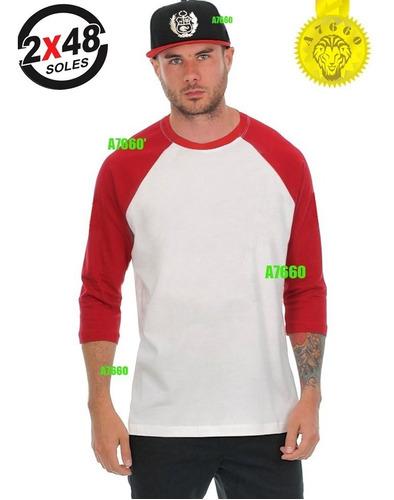 polo manga 3/4 raglan t-shirt ranglan nuevo baseball beisbol