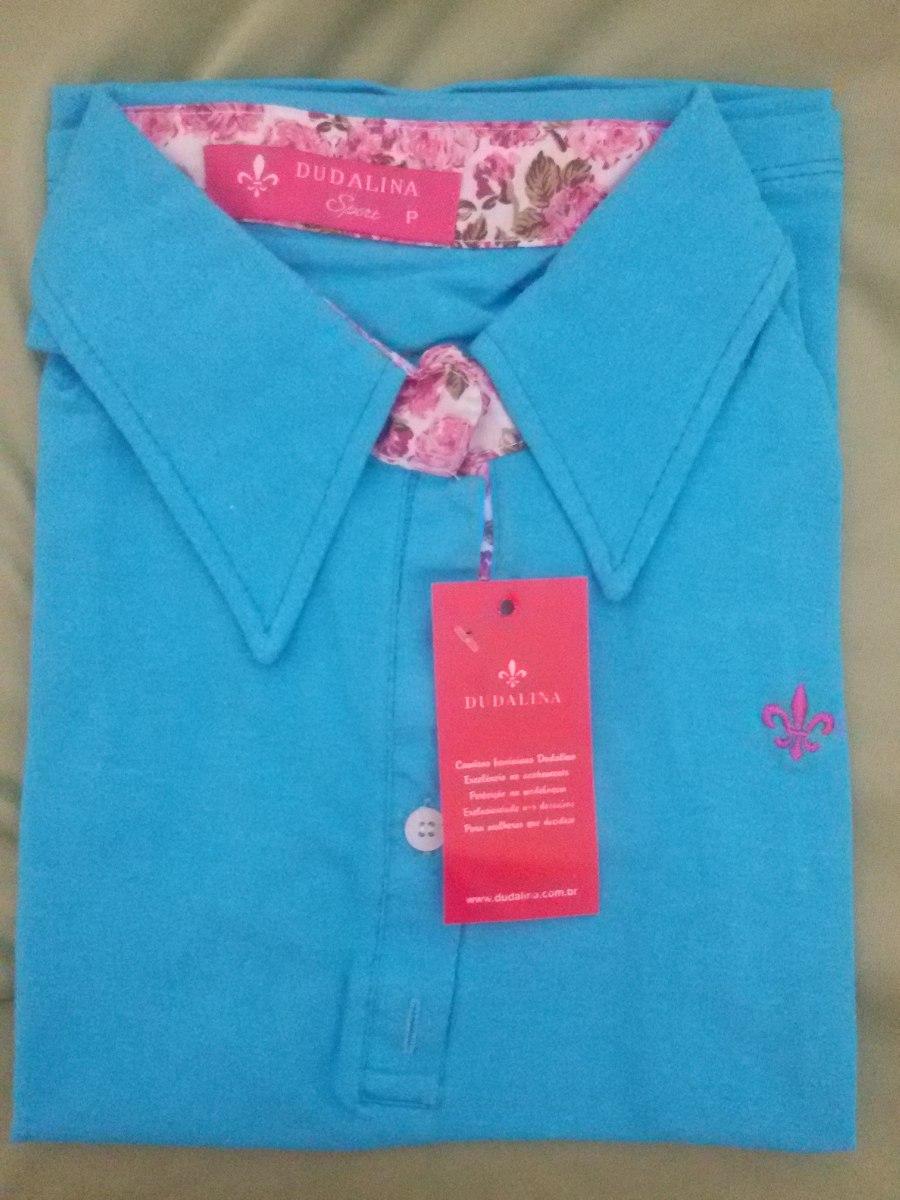 c00f5f4d43f38 Camisa Dudalina Polo Feminina Manga Curta Baby Look - R  39