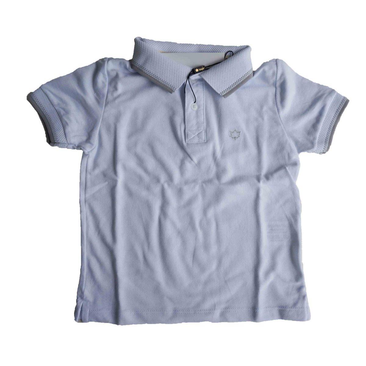 Camisa Polo Infantil Branca Manga Curta Meninos Seeder - R  58 0a3e379d42422