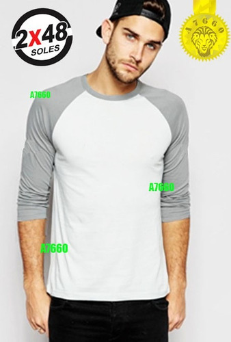 polo manga larga 3/4 corta camiseta beisbol ranglan