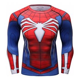 Polo Manga Larga Para Hombres: Spiderman! Con Envió Gratis