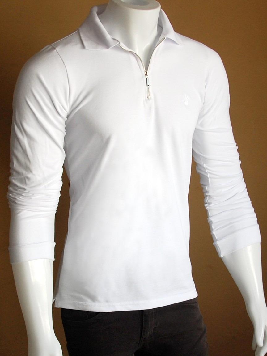 Kit 5 Camisas Polo Manga Longa Slim Fit Toka Pronta Entrega - R  245 ... 045ec1dac07