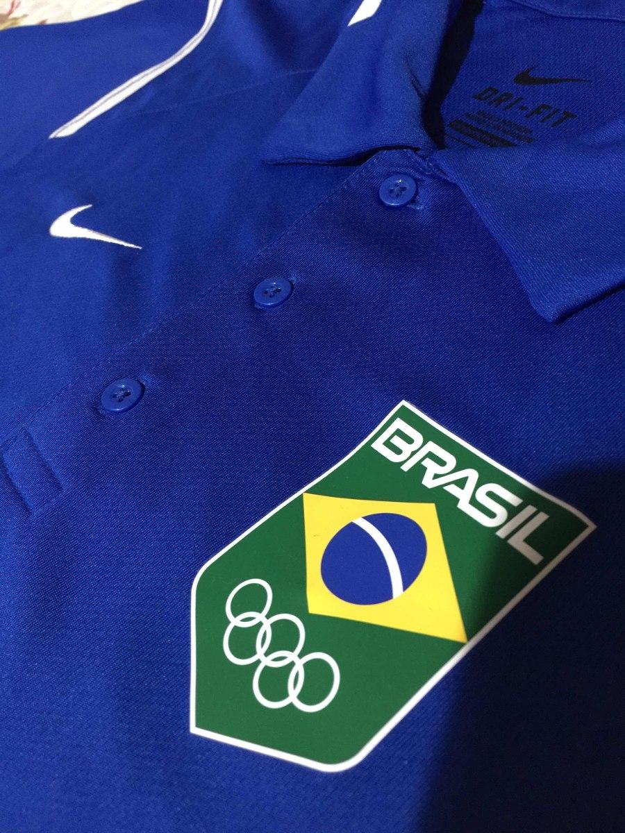 b83e95eb44fb0 polo nike time brasil olimpíadas treinador. Carregando zoom.